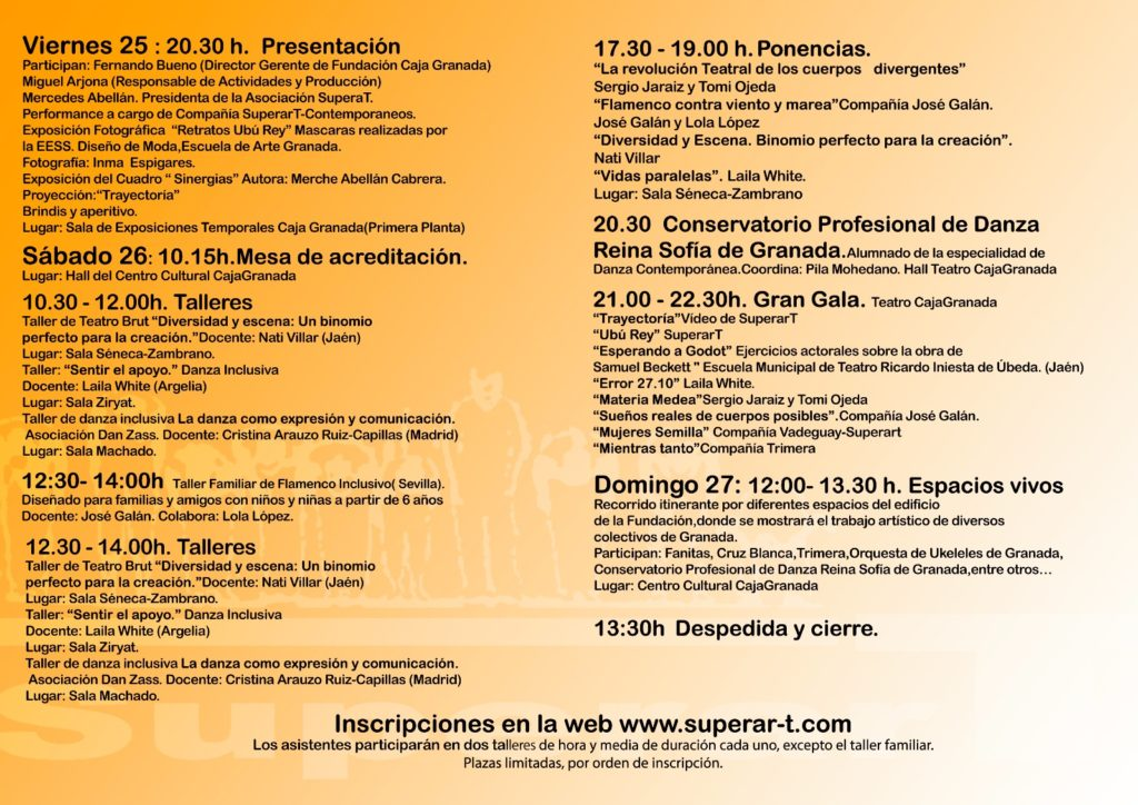 SuperarT 2ª Jornadas Danza Teatro Inclusivo
